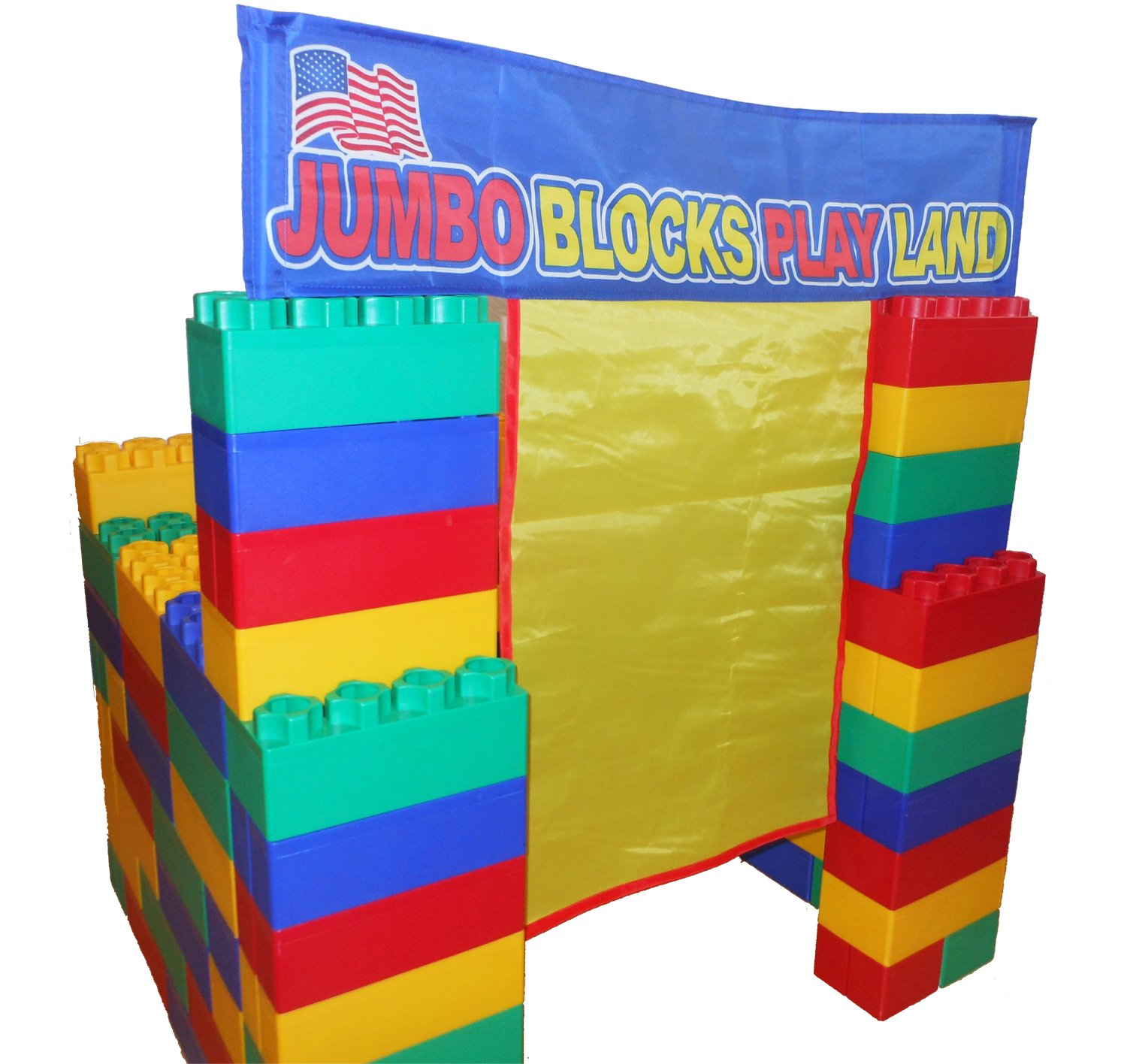 Amazon 99pc Playhouse Jumbo Blocks Playland Made in the USA