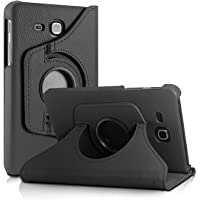 Infomatica Labs 360 Degree Rotating (Swivel Stand) PU Leather Folio Flip Cover For Samsung Galaxy Tab J Max / Tab A 7.0 inch T285 T280 (Black)