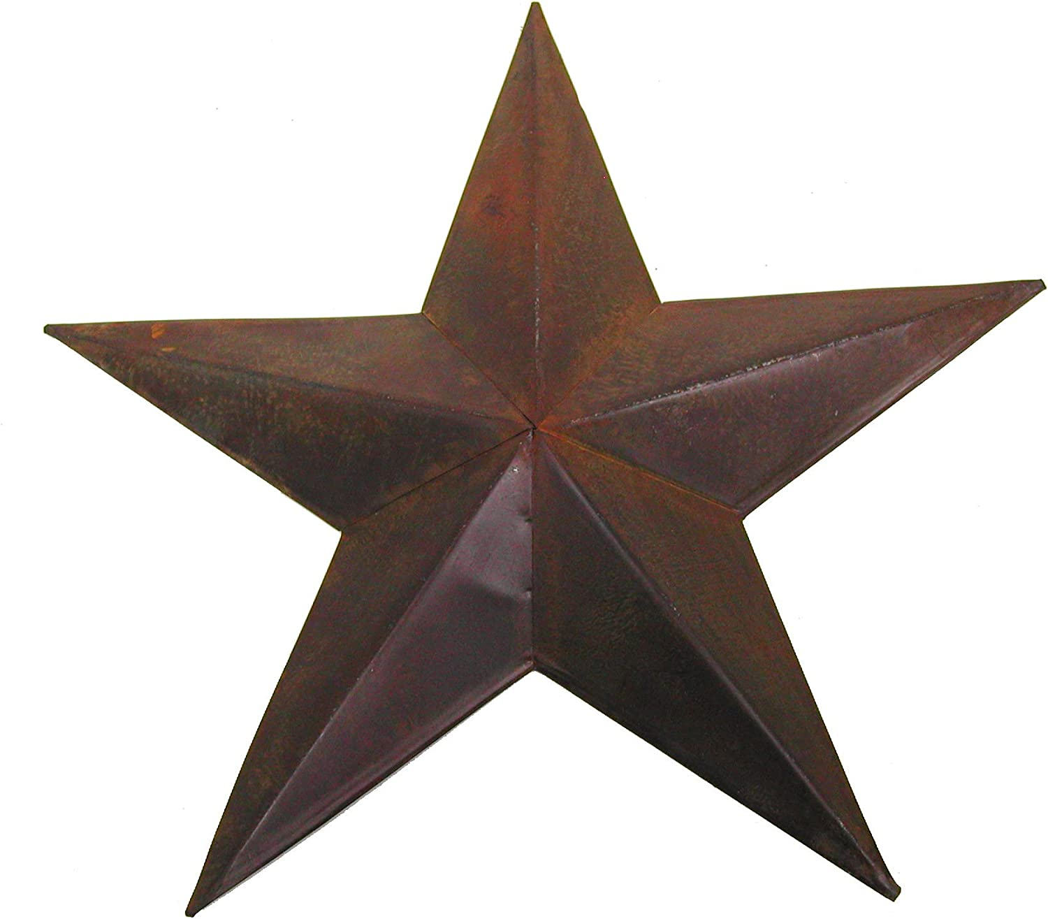 Craft Outlet Star Wall Decor 13-Inch Rust Set of 2