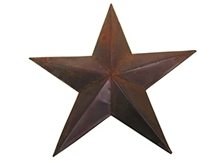 Amazon.com: Craft Outlet Tin Star Wall Decor, 36-Inch, Rust: Home ...