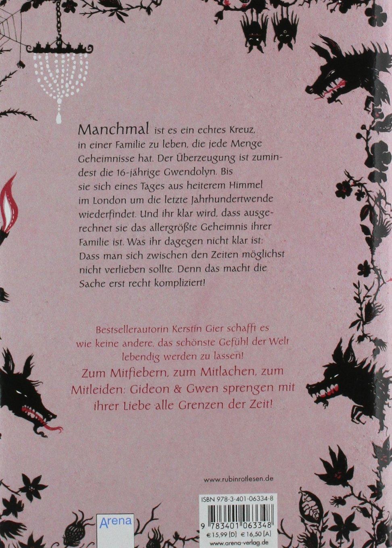 Rubinrot  Liebe Geht Durch Alle Zeiten: Kerstin Gier: 9783401063348:  Amazon: Books