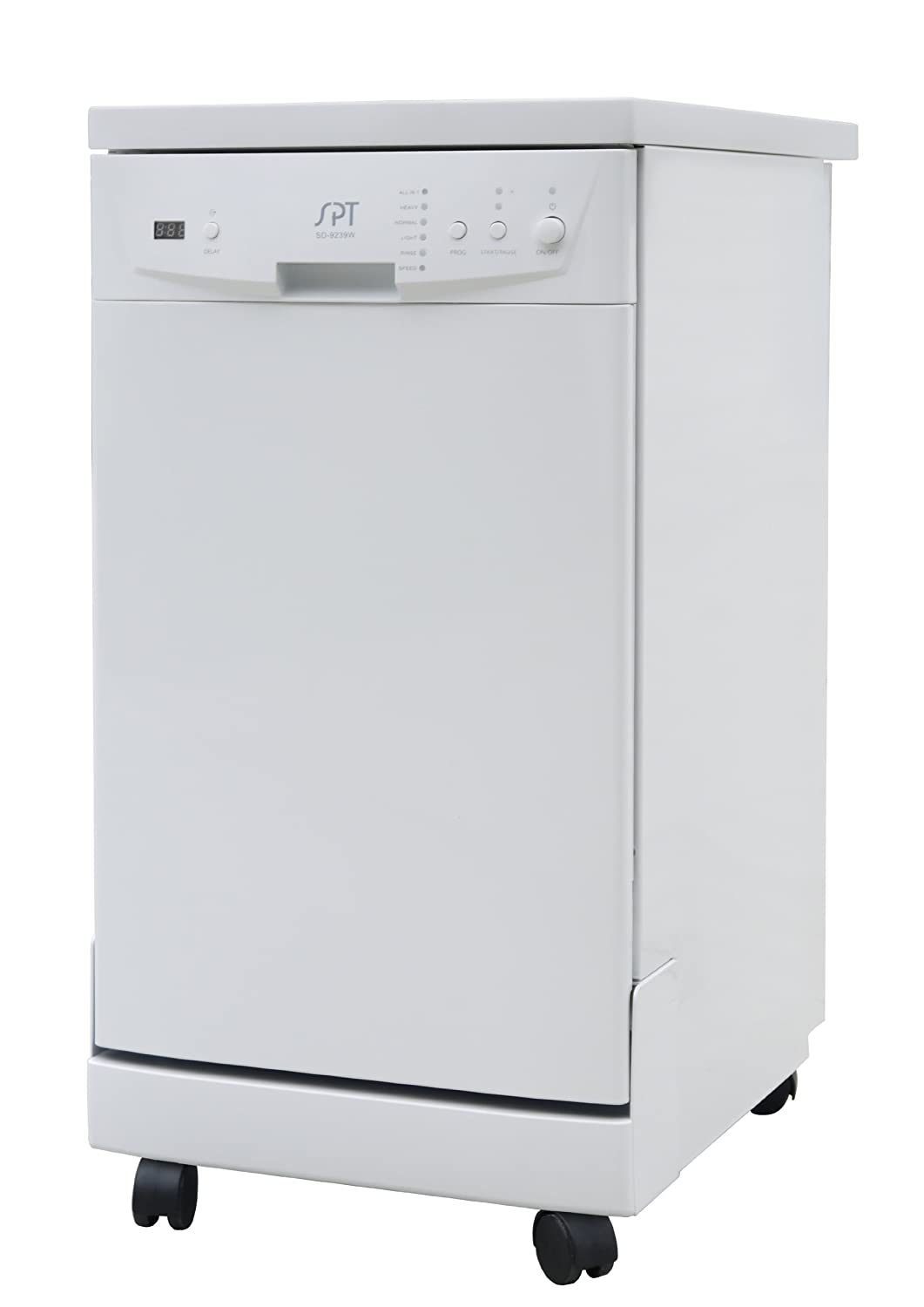 SPT SD-9241W Energy Star Portable Dishwasher, 18-Inch, White Sunpentown