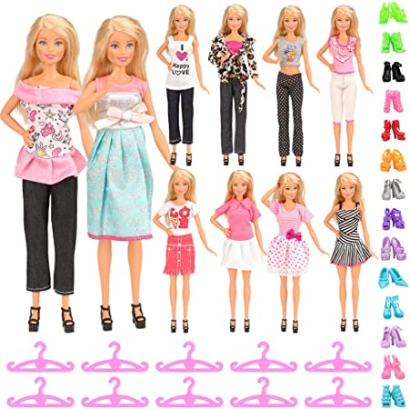 Doll Accessory Pants Short Skirt Casual Outfit Dress Clothes for Barbie 11.5 in