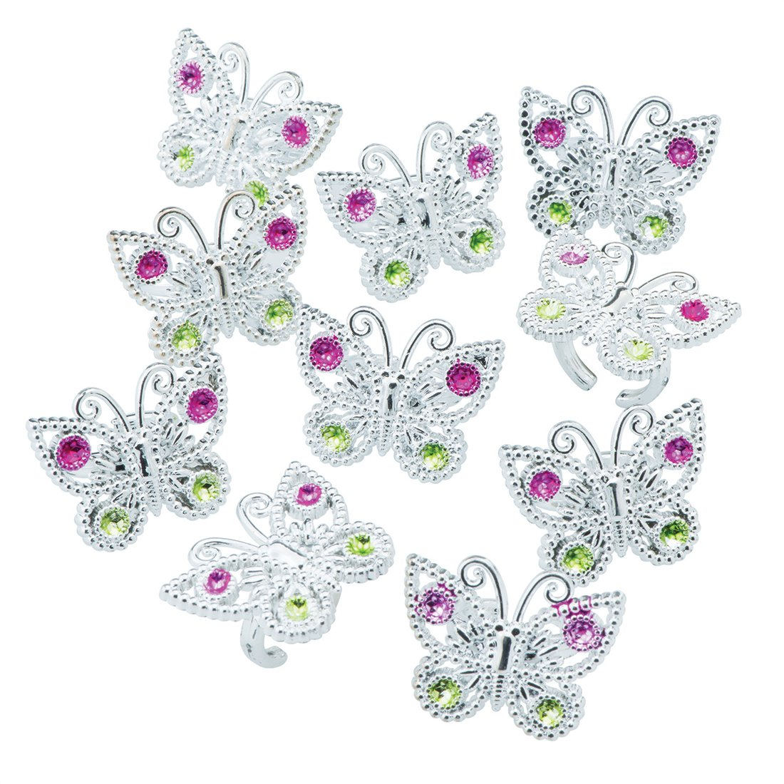 SmileMakers Butterfly Gem Rings - Prizes 72 per Pack