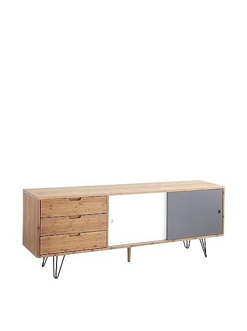 Wink Design, Odense, Madia, 2 Ante Scorrevoli e 2 Cassetti, Legno ...