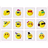 MunchieMoosKids Lot de 24 tatouages temporaires Smileys
