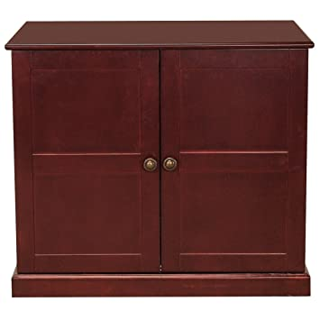 Meow Town Concord Cat Litter Cabinet, Mahogany Finished Cat Litter Concealer