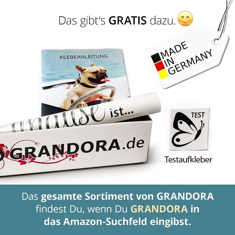 Grandora W5384 Wandtattoo Hausnummer Beschriftung selbsklebende Zahlen Buchstaben Ziffern T/ür schwarz H/öhe 4 cm 0