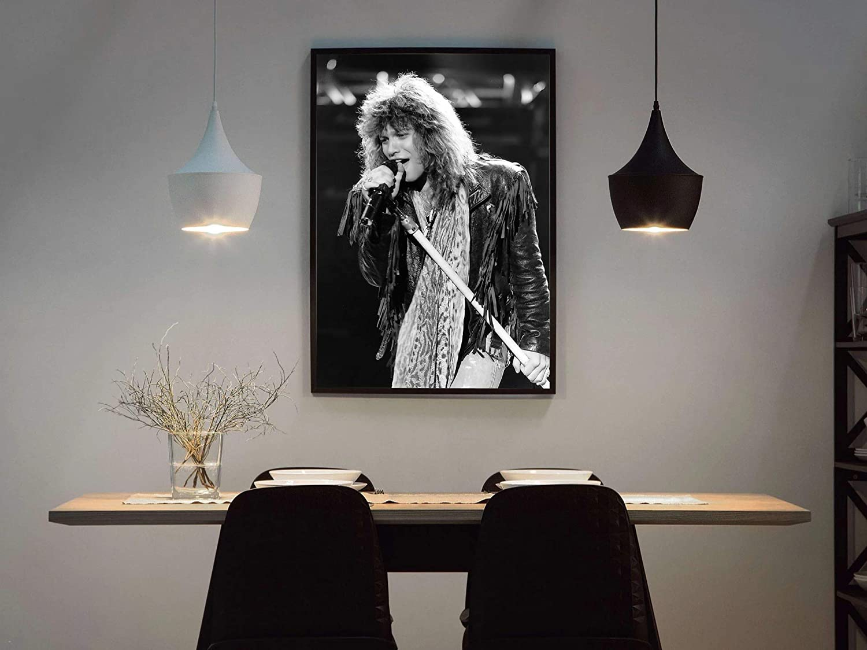 Mile High Media Jon Bon Jovi Poster Quality Black and White Portrait Print 24x36