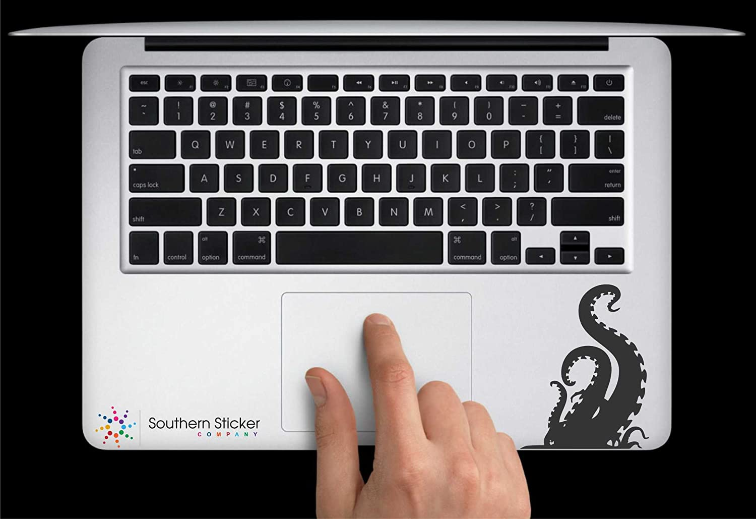 Kraken From Bottom Vinyl Car Sticker Symbol Silhouette Keypad Track Pad Decal Laptop Skin Ipad Macbook Window Truck Motorcycle