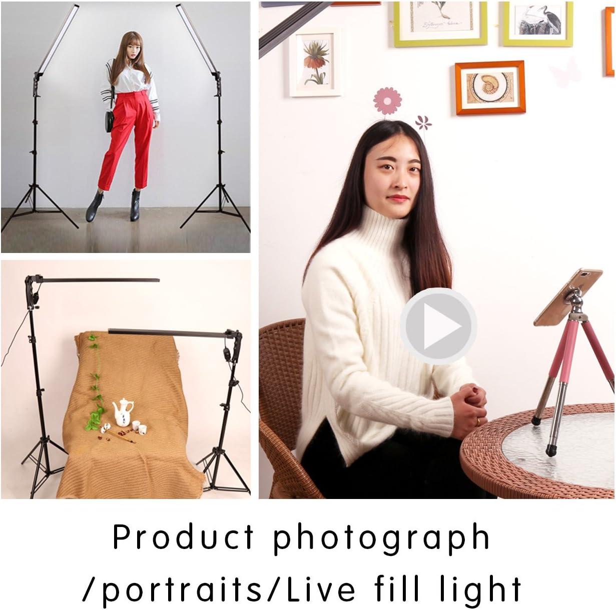GSKAIWEN 24W 3200-5500k brightness color temperature adjustable with desktop soft tube clamp yutube live beauty makeup selfie portrait blogging photography light