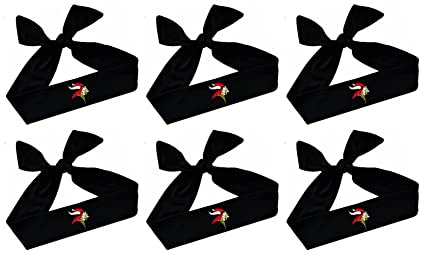 Viking Headbands Wholesale Set of Team TIE BACK moisture wicking headbands  Your CUSTOM Colors (BLACK b95f29ccd33