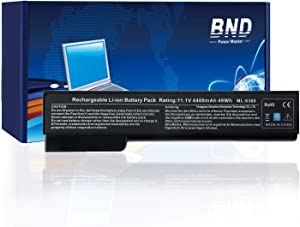 BND 628668-001 Laptop Battery Compatible with HP EliteBook 8460P 8470P 8560P 8570P;ProBook 6470B 6570B 6460B 6560B,fits P/N CC06/QK642AA/628666-001/HSTNN-F08C/HSTNN-LB2H-[4400mAh/49Wh Li-ion]