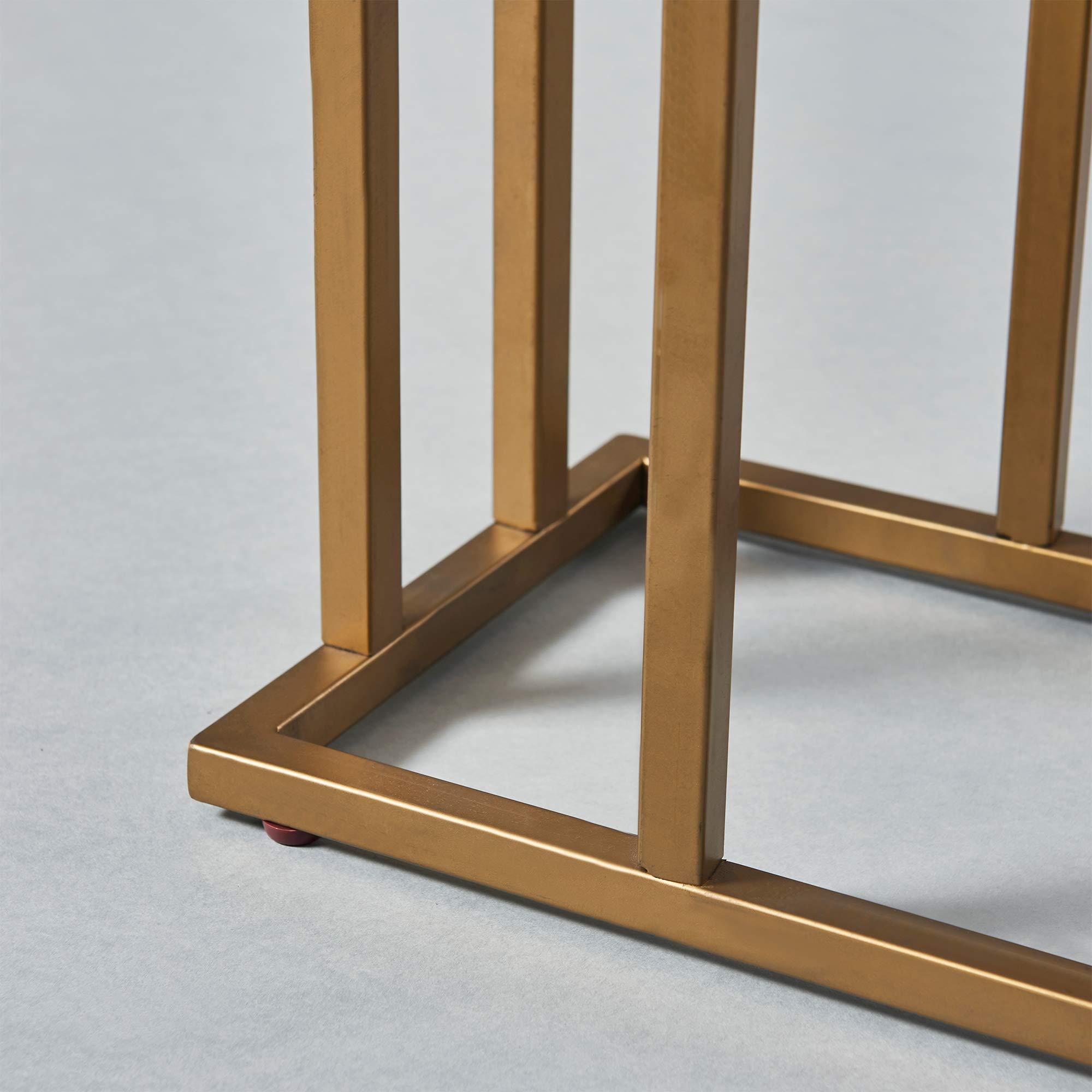 Versanora - Marmo C Shape Table - Faux Marble /Brass by Versanora (Image #16)