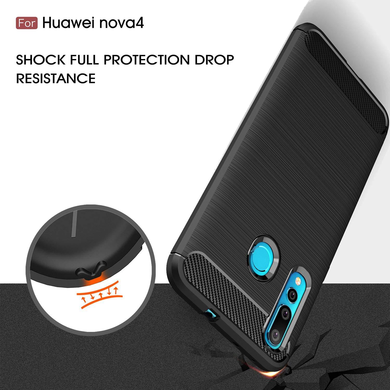 Coque-Etui-Housse-Silicone-brossee-Fibre-de-carbone-Noir-Protection-Huawei miniature 33