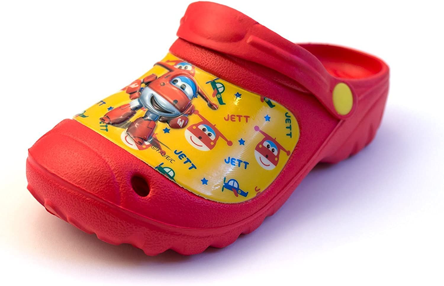Super Wings Boys Clogs Summer Beach Sandals Red-Size 24-25EUR:  Amazon.co.uk: Shoes & Bags