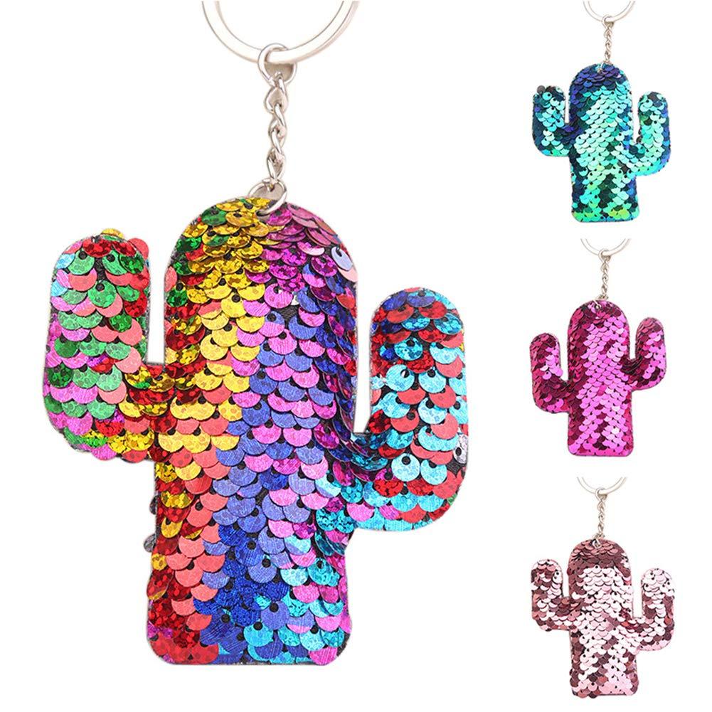 Pailletten Kaktus Schlüsselanhänger Schlüsselanhänger Pandent Liebhaber Geschenk