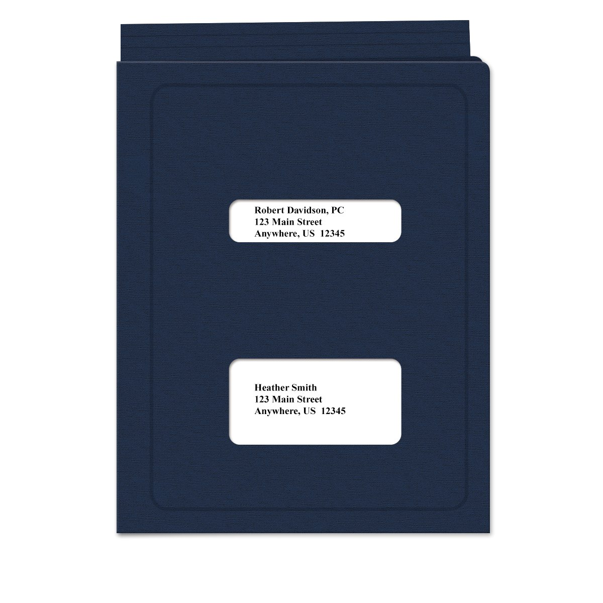 Double Window Tax Return Software Folder - Top-Tabbed - 50 Pack
