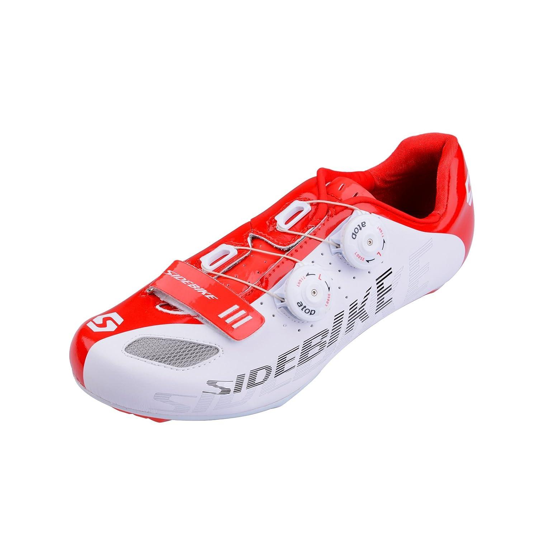 SIDEBIKE Chaussures de vélo de route Chaussure de vélo professionnelle pour hommes...
