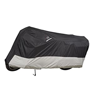 Dowco Guardian 50006-02 WeatherAll Plus Indoor/Outdoor Waterproof Motorcycle Cover: Black, XXX-Large