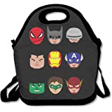 Cool Cartoon Super Hero Group Lunch Box Bag For Kids And Adult,lunch Tote Lunch Holder With Adjustable Strap For Men Women Boys Girls,This Design For Portable, Oblique Cross,double Shoulder