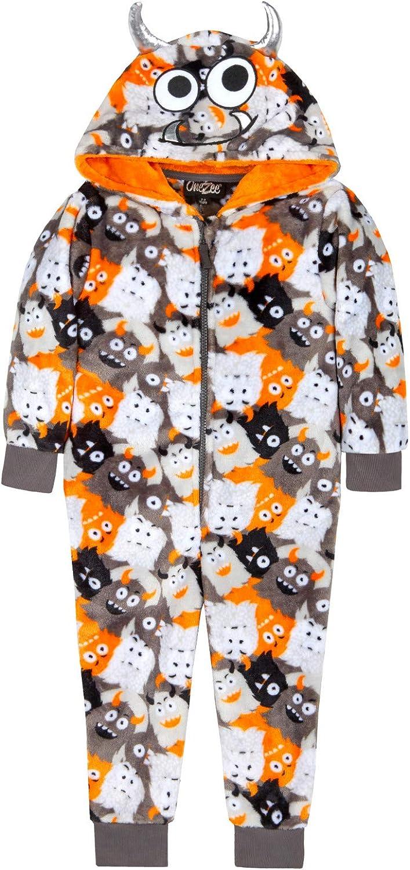 Strong Souls Boys Girls Onesies Kids Novelty All in One Dress Up Costume Hooded Fleece Pyjamas Pjs Sleepsuit