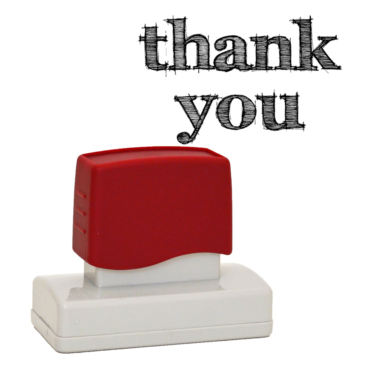 Thank Youスタンプ作成for your own DIY Thank Youカード、ハングタグ、結婚式の贈り物。、self-inkingラバースタンプ   B00SG2YRTY