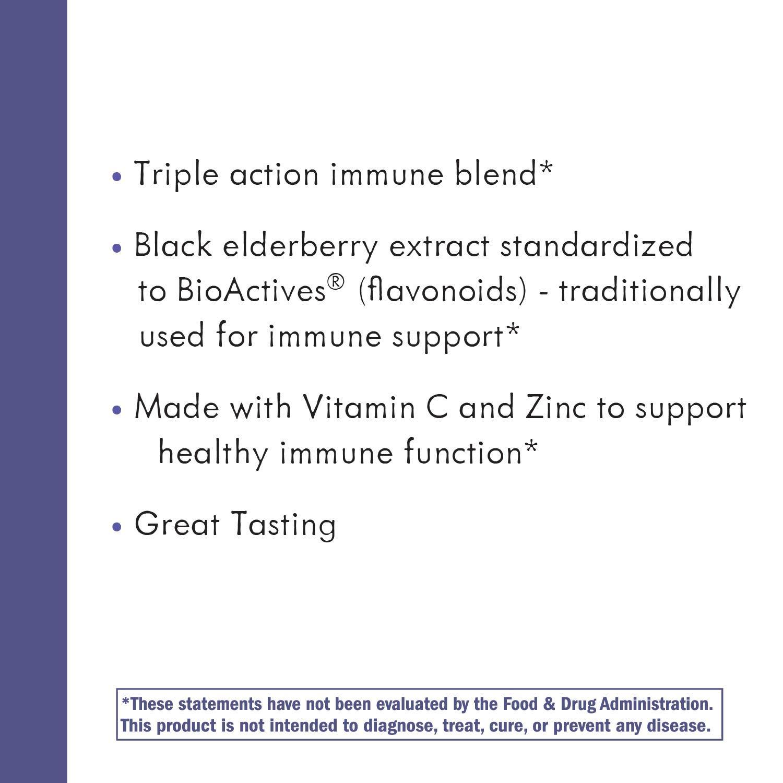Nature's Way Sambucus Elderberry Gummies, Herbal Supplements with Vitamin C and Zinc, Gluten Free, Vegetarian, 60 Gummies by Sambucus (Image #7)