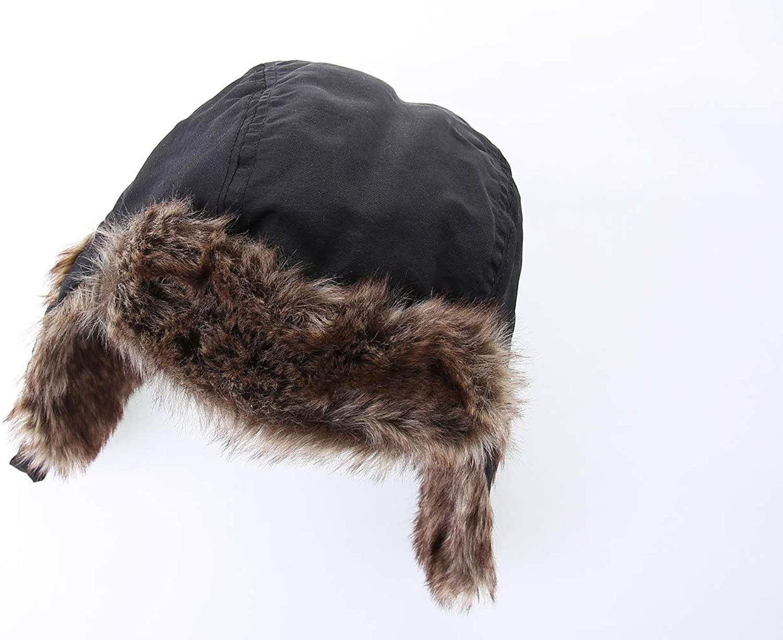 Boys Bomber Hat Children Thicken Earflaps Fleece Lining Ski Cap Winter