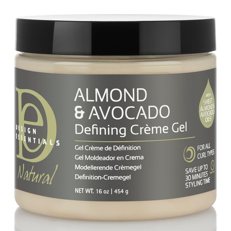 Design Essentials Natural Almond & Avocado Curl Defining Creme Gel For All Curl Types - 16 Oz