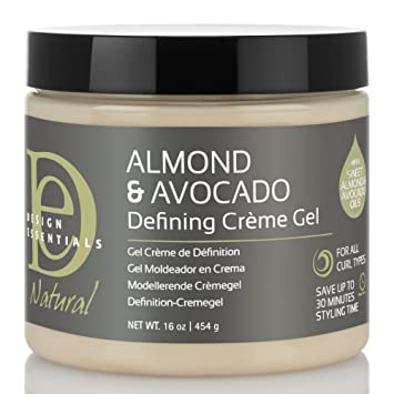 Amazoncom Design Essentials Natural Defining Hair Crème Gel For