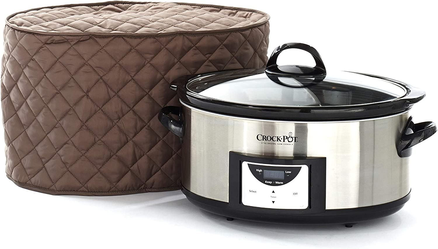 Covermates – Slow Cooker Cover – 17W x 12D x 17H – Diamond Collection – 2 YR Warranty – Year Around Protection - Bronze