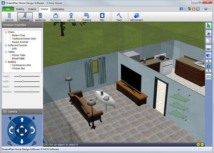 Dreamplan home design and landscaping software download for Landscape design computer programs