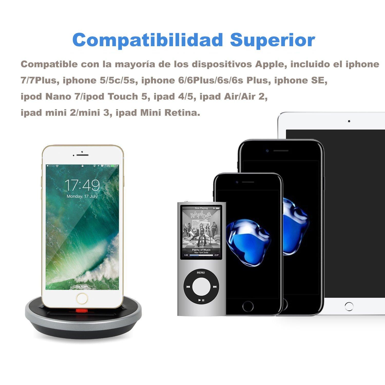 652e6c11b0d Cargador con Cable de Sincronización de Datos para iPhone X 8 7 6S 6 Plus  SE 5S 5C 5 ...