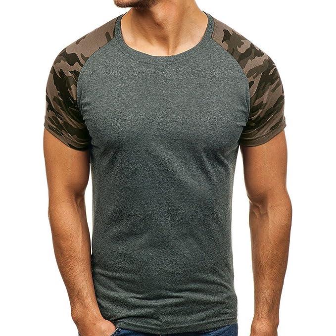 MEIbax Camisetas de Manga Cortas para Hombre con Cuello Redondo Originales Estampada Divertidas Camisa Interior termicas Camisetas de Tirantes Manga Corta ...