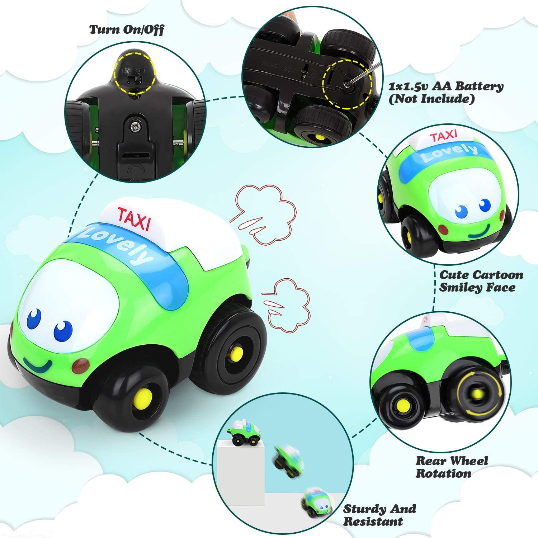 Fivejoy Spielzeug Autos für Kleinkinder Set, Cartoon