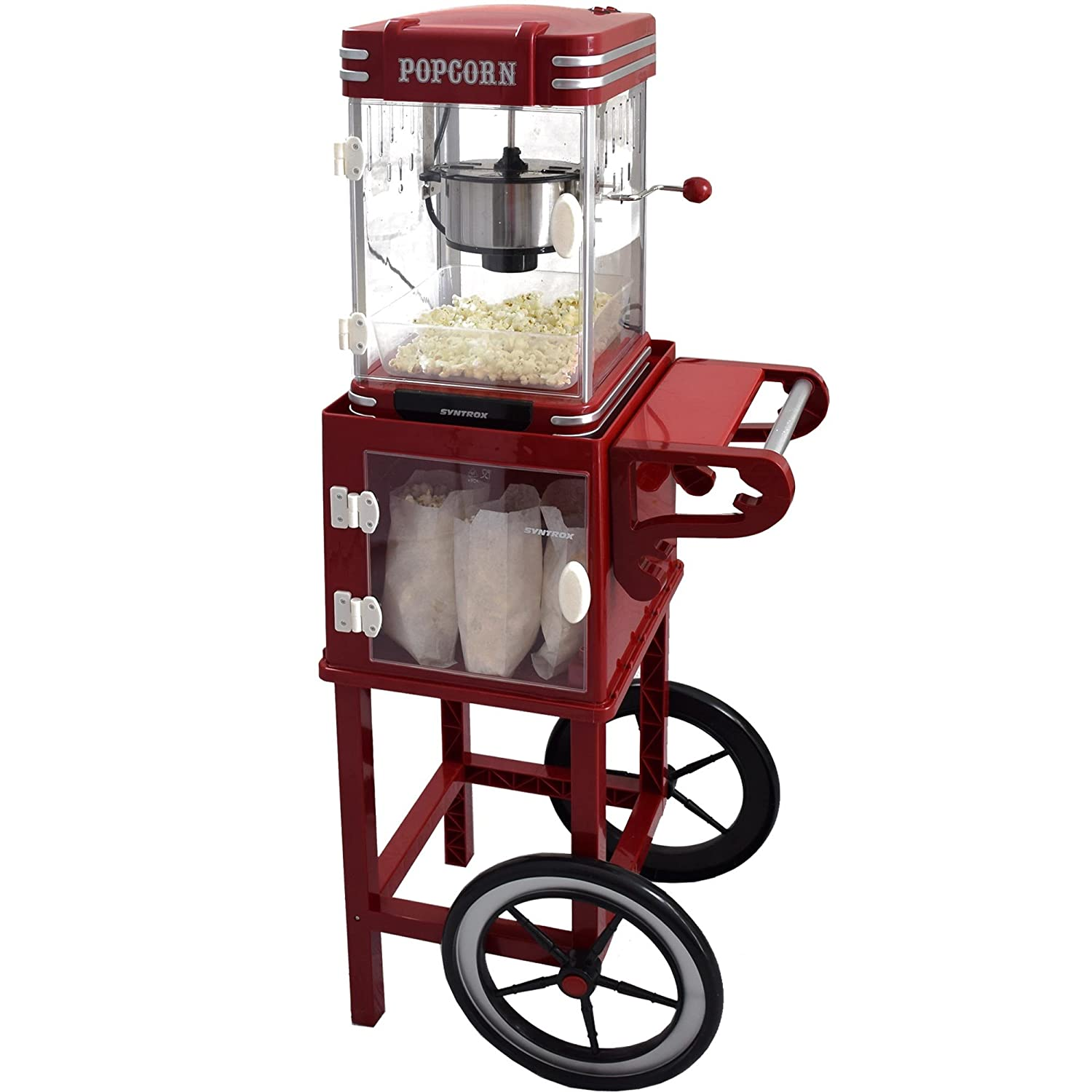 Syntrox Germany - Carrito para Popcorn Maker estructura carro para palomitas popcorn maker con dos Neumáticos PCM de UG Idaho: Amazon.es: Hogar