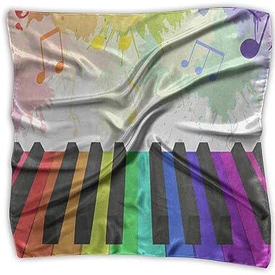 Xukmefat Bufanda cuadrada Llaves de piano de color Bufandas ...