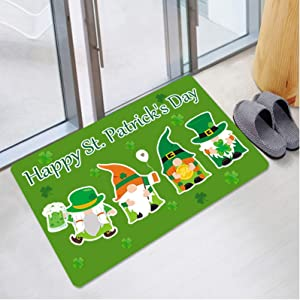 HCCH St. Patrick's Day Welcome Doormats Home Carpets 23.6