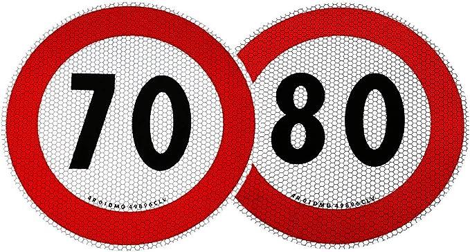 4r Quattroerre It 31313 1545 40 Selbstklebende Geschwindigkeitsbegrenzung 70 Und 80 Km H Eu Genehmigt Auto
