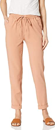 Marca Amazon - Daily Ritual Fluid Stretch Woven Twill Cuffed Pant - pants Mujer