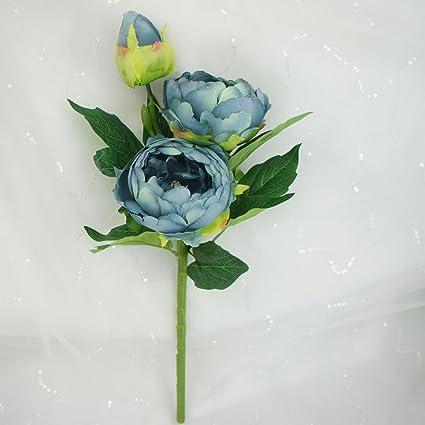 Amazon lily garden 6 stems artificial peony silk flowers blue lily garden 6 stems artificial peony silk flowers blue mightylinksfo
