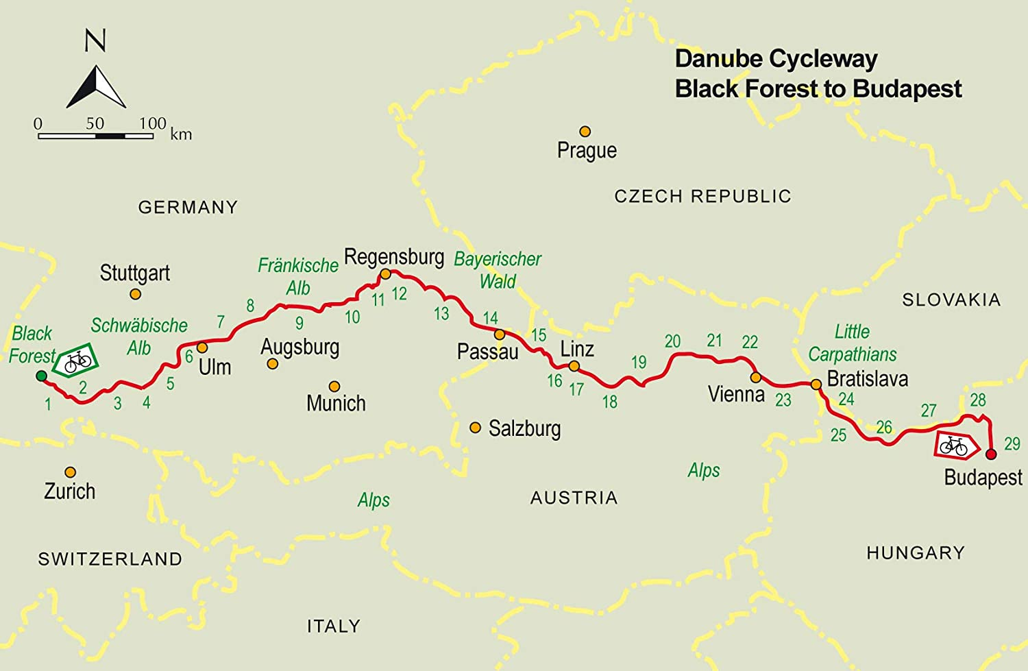 The Danube Cycleway Volume 1: From the source in the Black Forest ...