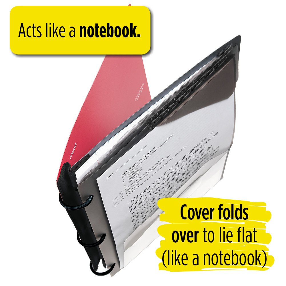Five Star Flex Hybrid NoteBinder, 1 Inch Binder, Notebook and Binder All-in-One, Blue (72011) by Mead (Image #5)
