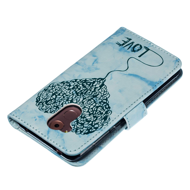 Felfy Kompatibel mit Huawei Honor 6A H/ülle Case Leder Flip Case Marmor Liebe Muster PU Ledertasche Luxus HandyH/ülle Leder PU Weiche Silikon Innere Cover Tasche mit Standfunktion