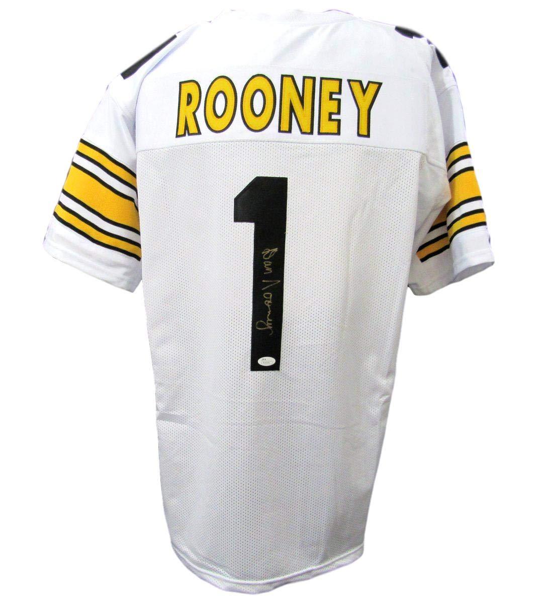 Dan Rooney Pittsburgh Steelers HOF Autographed//Signed White Jersey JSA 142519