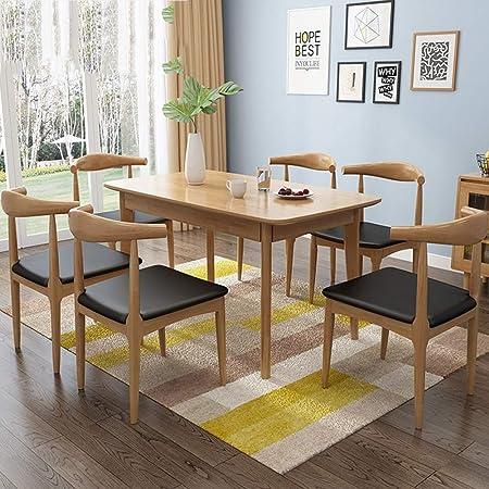 Dlibig Salle Manger Table Et 6 Chaise En Bois Massif Cuisine Salle