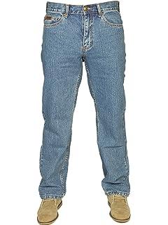 Farah Mens BNWT Latest Denim Jeans Straight Leg in Dark Blue