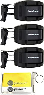 product image for Croakies Sunglass Holder, Shade Dock, Visor Clip, 3 Pack, w/Cloth and Optical Screwdriver