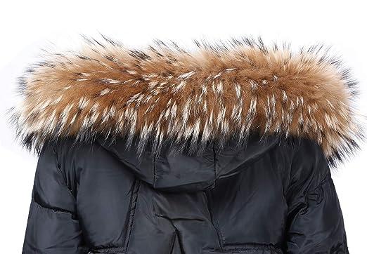 Jeracol - Cuello de pelaje para abrigo/capucha Natürlich Braun Large
